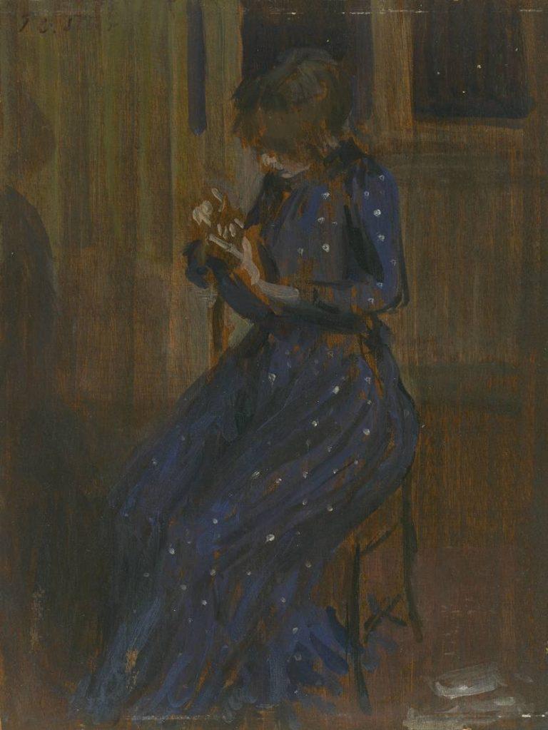 Girl in a Blue Dress | Philip Wilson Steer | oil painting