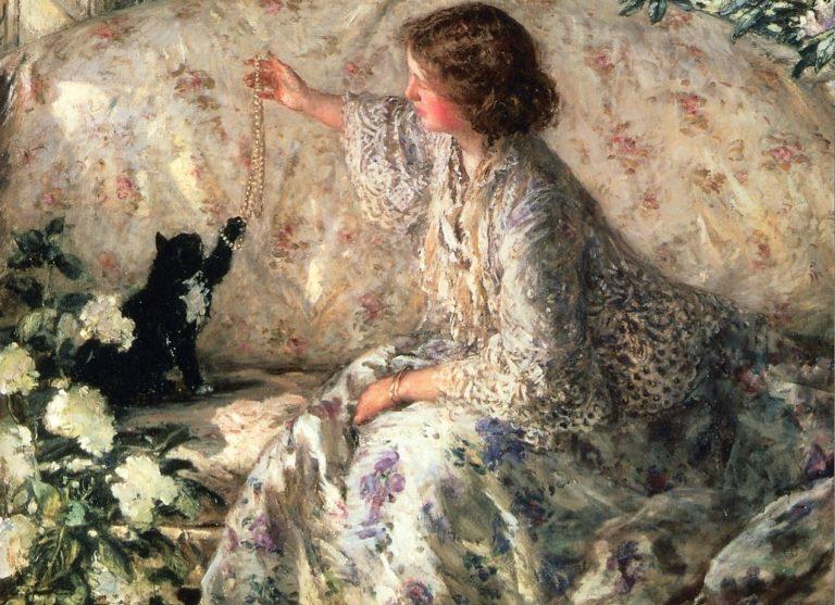Hydrangeas | Philip Wilson Steer | oil painting
