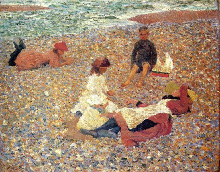 Knucklebones Walberswick | Philip Wilson Steer | oil painting
