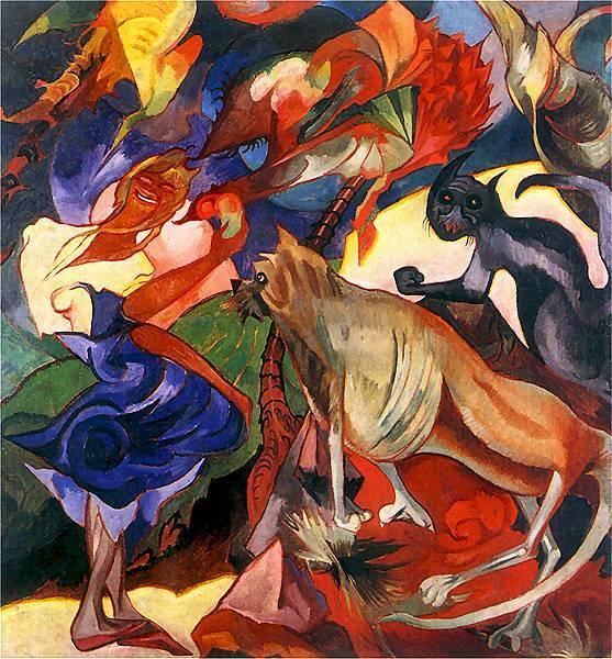 Mary and Burek in Ceylon | Stanislaw Ignacy Witkiewicz | oil painting