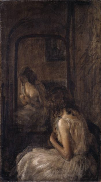 Model Seated Before a Mirror | Philip Wilson Steer | oil painting