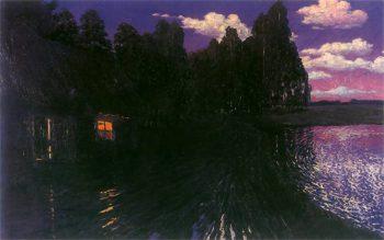 Night Landscape | Stanislaw Ignacy Witkiewicz | oil painting
