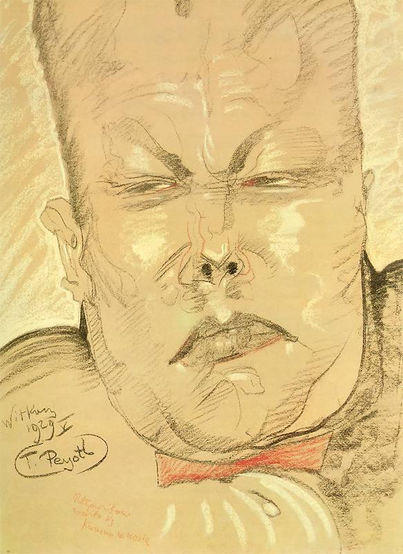 Portrait of Colonel Janusz Beaurain   Stanislaw Ignacy Witkiewicz   oil painting