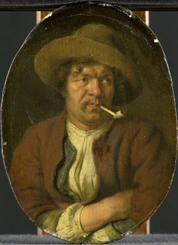 The smoker. 1655 - 1680 | Ary de Vois | oil painting