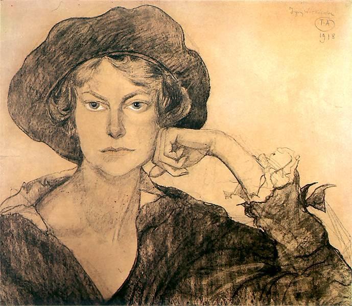 Portrait of Irena Szarota | Stanislaw Ignacy Witkiewicz | oil painting