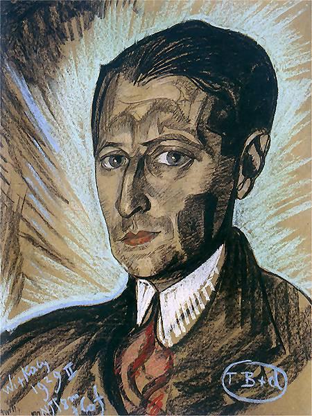 Portrait of Julian Tuwim | Stanislaw Ignacy Witkiewicz | oil painting