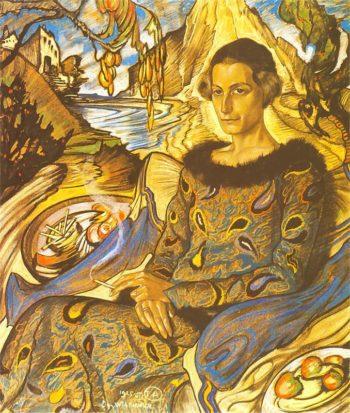 Portrait of Maria Nawrocka 1 | Stanislaw Ignacy Witkiewicz | oil painting