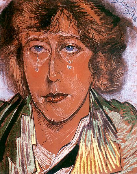 Portrait of Maria Pawlikowska Jasnorzewska | Stanislaw Ignacy Witkiewicz | oil painting