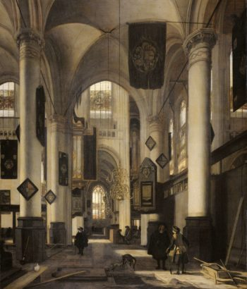 Interior of a Protestant Gothic Church. 1660 - 1680 | Emanuel de Witte | oil painting