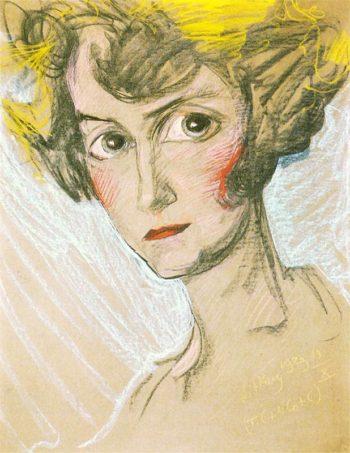 Portrait of Modesta Zwolinska | Stanislaw Ignacy Witkiewicz | oil painting