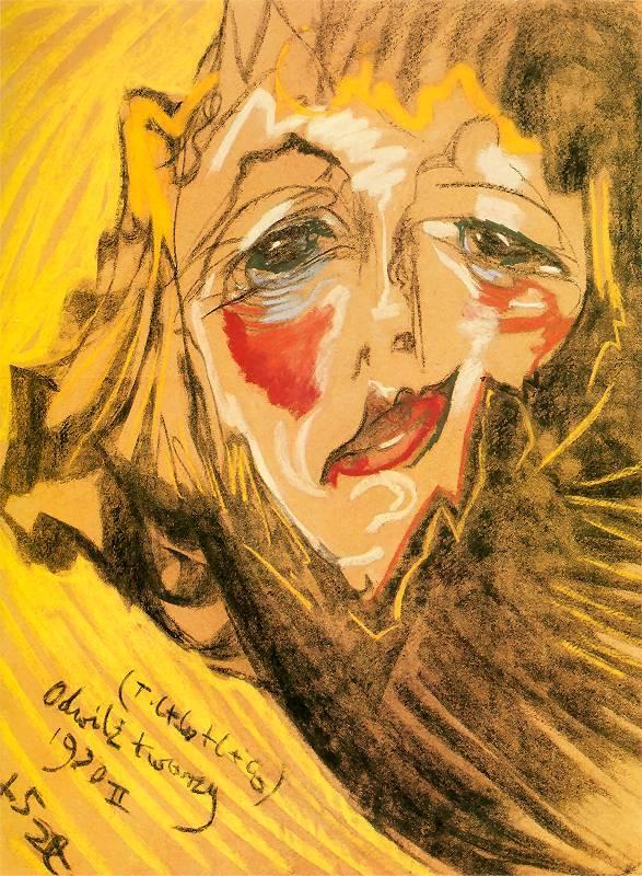 Portrait of Nena Stachurska   Stanislaw Ignacy Witkiewicz   oil painting