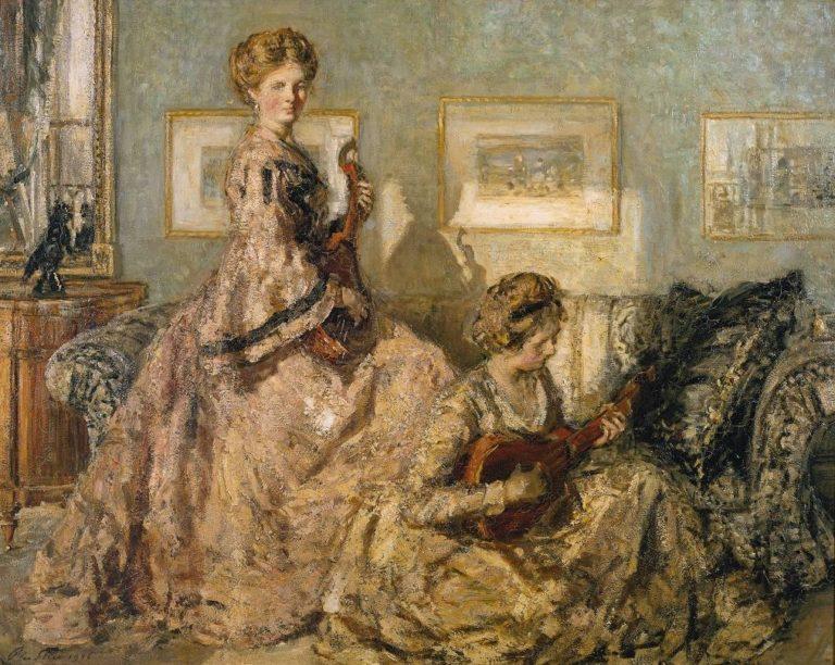 The Music Room   Philip Wilson Steer   oil painting