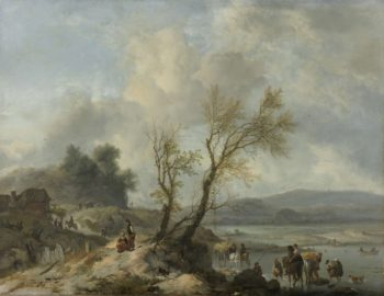 Landscape with a Sandy Path. ca. 1655 | Philips Wouwerman | oil painting