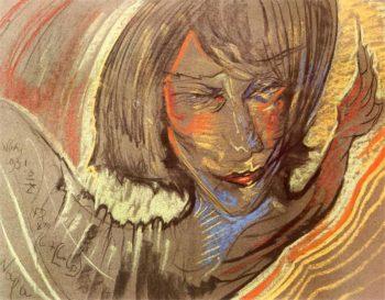Portrait of Zofia Jagodowska | Stanislaw Ignacy Witkiewicz | oil painting