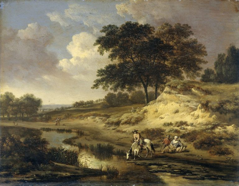 Landscape with a rider