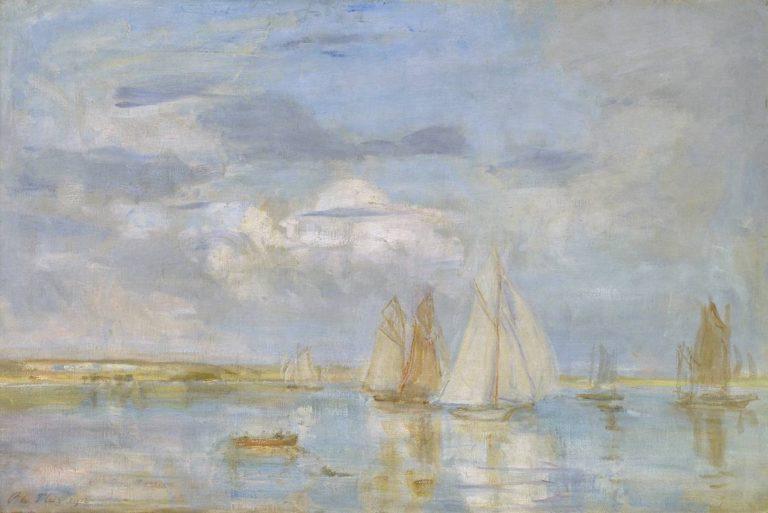The White Yacht | Philip Wilson Steer | oil painting