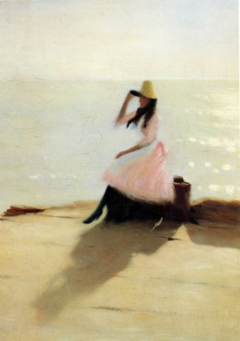 Young Woman at the Beach | Philip Wilson Steer | oil painting