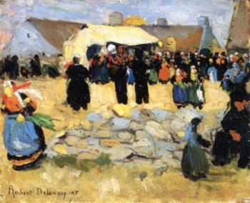 Breton Market | Robert Delaunay | oil painting