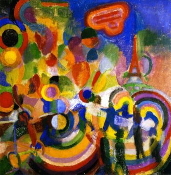 Homage to Bleriot | Robert Delaunay | oil painting