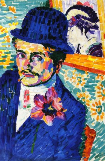 Man with a Tulip | Robert Delaunay | oil painting