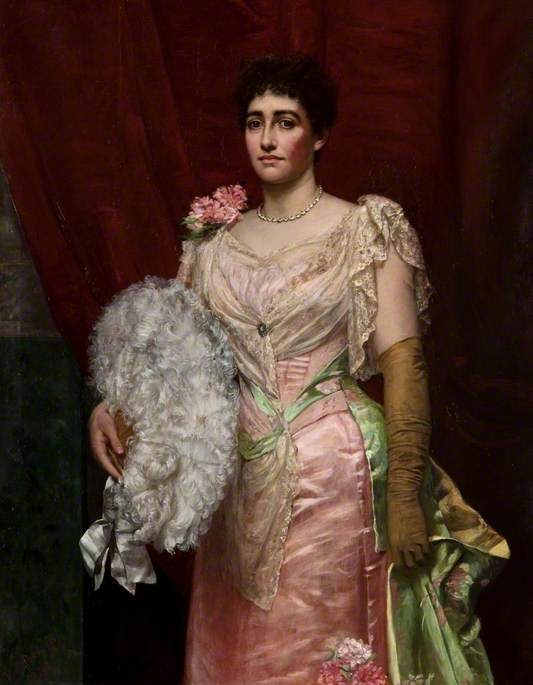 Lady Simpson   Valentine Cameron Prinsep   oil painting