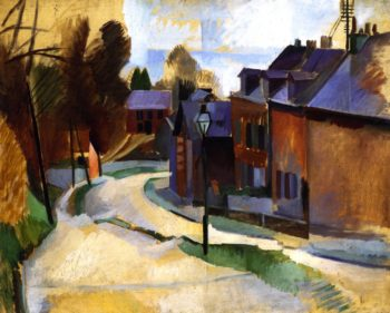Road in Laon | Robert Delaunay | oil painting