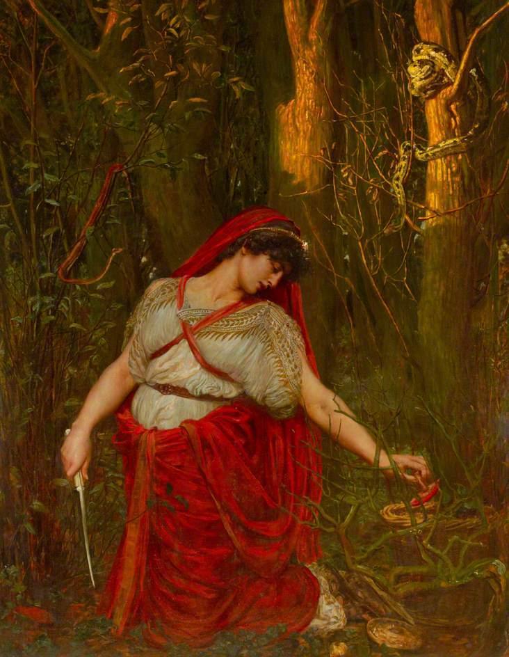 Medea the Sorceress   Valentine Cameron Prinsep   oil painting
