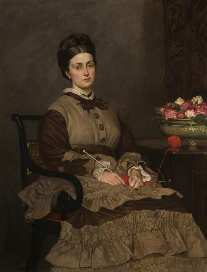 Mrs Oliver Ormerod Walker nee Jane Harrison | Valentine Cameron Prinsep | oil painting