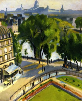 View of the Quai de Louvre | Robert Delaunay | oil painting