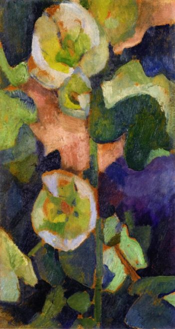 White Hollyhock | Robert Delaunay | oil painting