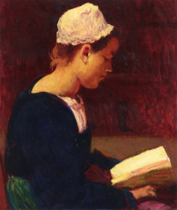 Breton Girl Reading | Roderic OConnor | oil painting