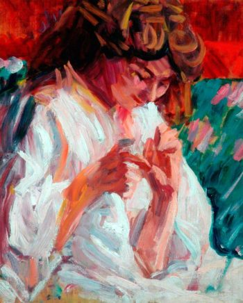 Girl Mending | Roderic OConnor | oil painting