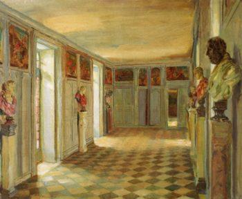Galerie des Bustes Chaeau du Reveillon | Walter Gay | oil painting