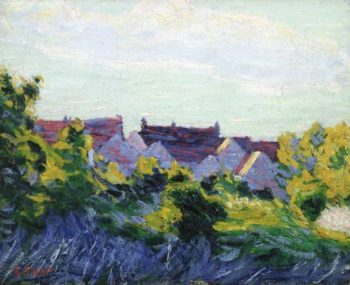 Red Roofs | Roderic OConnor | oil painting