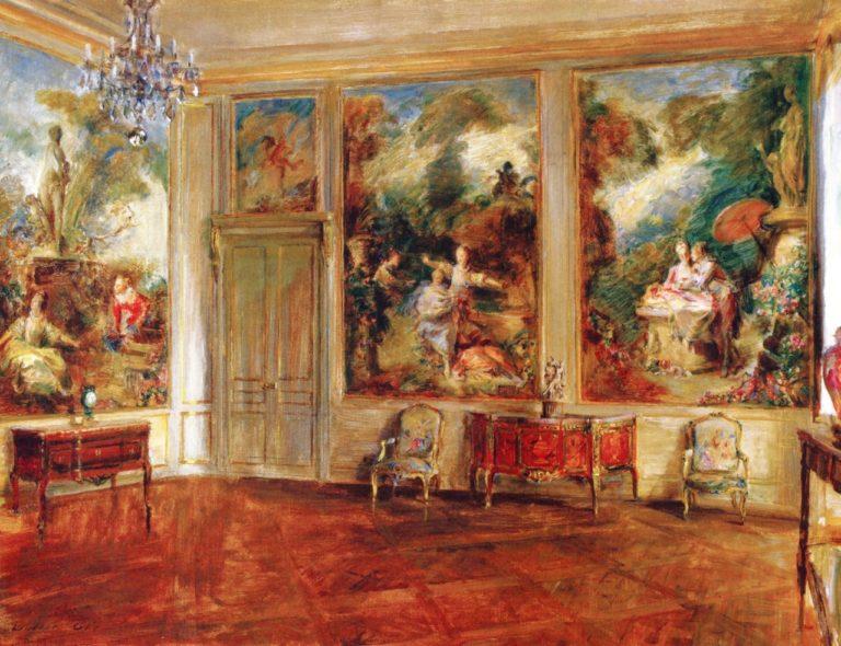 The Fragonard Room   Walter Gay   oil painting