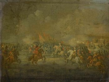 A cavalry skirmish. ca. 1645 | Anonymous | oil painting