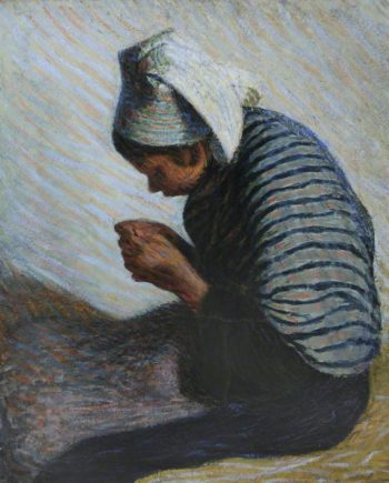 Young Breton Peasant | Roderic OConnor | oil painting