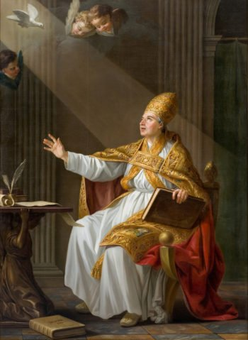 Pope St Gregory the Great | Joseph Marie Vien | oil painting