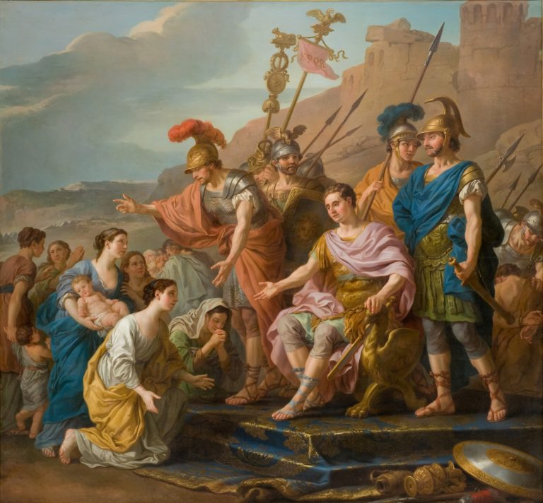 Coriolans Family Imploring him not to Besiege Rome | Joseph Marie Vien | oil painting