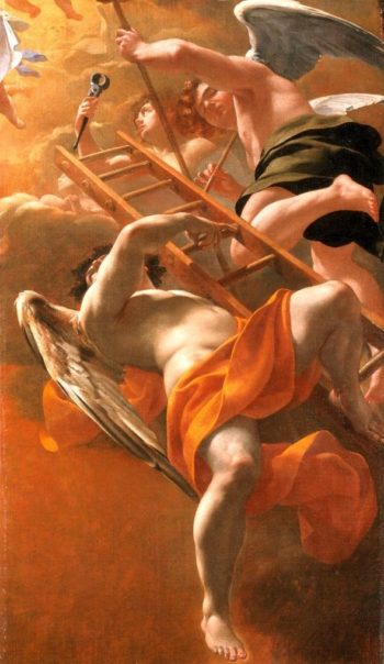 Angels Bearing the Instruments of the Passion | Simon Vouet | oil painting