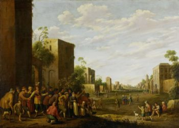 The housing of the poor. 1647 | Joost Cornelisz. Droochsloot | oil painting