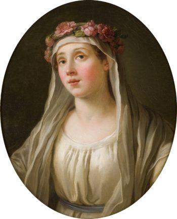 A Vestal | Joseph Marie Vien | oil painting