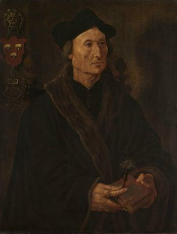 Portrait of John Colmannus (1471-1538). ca. 1538 - ca. 1540   Maarten van Heemskerck   oil painting