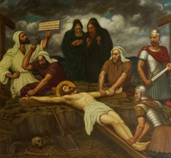 Jesus is Nailed to the Cross | Edward Arthur Fellowes Prynne | oil painting