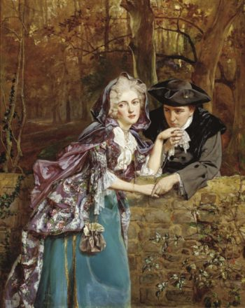 A secret assignation | Talbot Hughes | oil painting