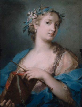Portrait of a Woman Wearing a Laurel Wreath | Rosalba Carriera | oil painting