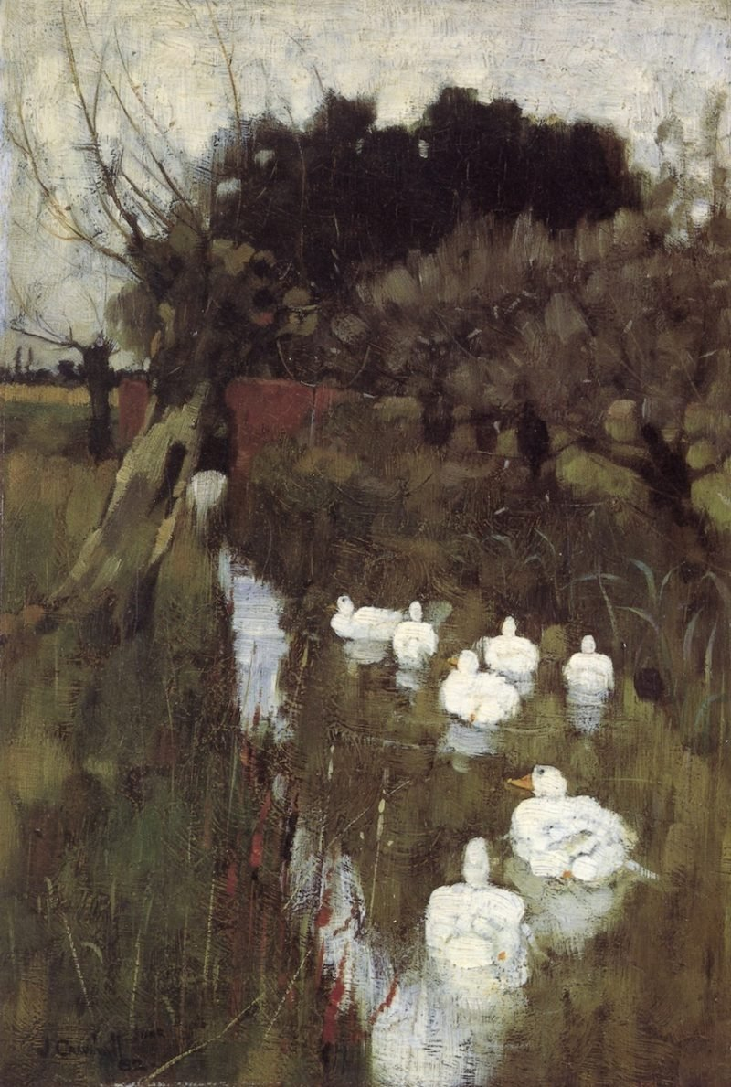 A Lincolnshire Stream | Joseph Crawhall | oil painting