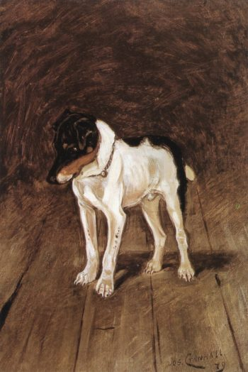 The Fox Terrier | Joseph Crawhall | oil painting