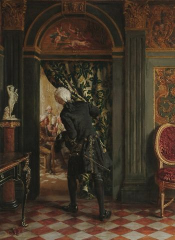 The Card Room | Talbot Hughes | oil painting