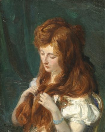 The Toilet | Talbot Hughes | oil painting